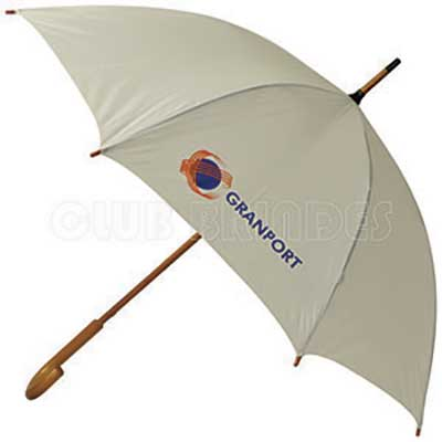 club-brindes - Guarda-chuva cabo de madeira