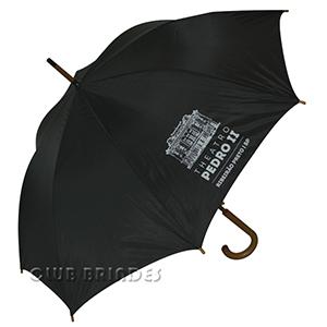 Club Brindes - Guarda chuva cabo de madeira 120cm diâmetro, disponível em várias cores