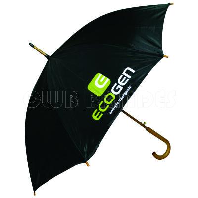 club-brindes - Guarda chuva com cabo de madeira
