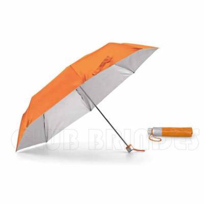 Guarda chuva dobrável feito de Poliéster, Fornecido em bolsa. Disponível em várias cores. Gravaçã...