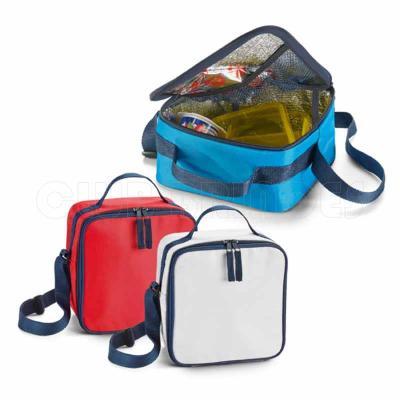 Bolsa térmica. 600D. Alça ajustável em webbing. Capacidade até 4,5 litros. Disponível em várias c...