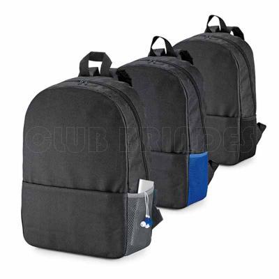 Mochila para notebook. 600D. Compartimento para notebook 15.6''. Bolso lateral em mesh e bolso fr...