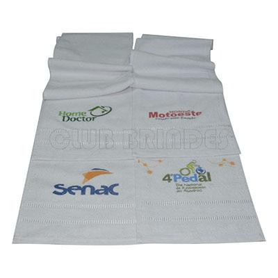 Toalha Fitness, gravação da logomarca em Silk ou Bordado
