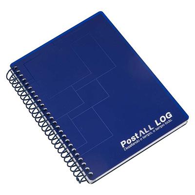 Caderno Capa de acrilico com o logotipo vazado a laser, embalagem em caixa de cartão branco
