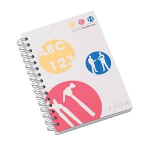 Caderno com gravação personalizada.