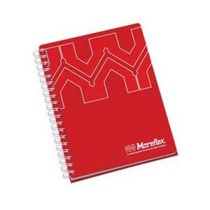 Caderno com 100 folhas e gravação personalizada.