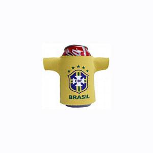 finau-brindes-promocionais - Porta latas personalizado - Modelo camisa do Brasil.