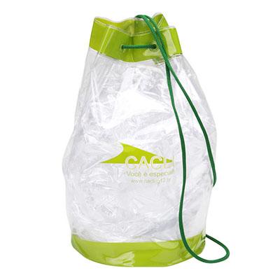 Finaú Brindes Promocionais - Mochila pvc ou bolsa confeccionada em PVC