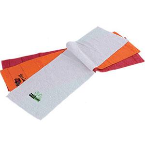 finau-brindes-promocionais - Toalha fitness personalizada, branca, 100% algodão felpa de 100 gramas - Medidas: 0,29 x 100 cm - Gravação em silk de até 2 cores incluso.