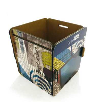 Caixas em MDF impresso, personalizadas no formato e na impressão, para entregar o seu brinde e destacar a sua marca. - Printas