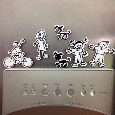 Printas - Imã de geladeira em MDF