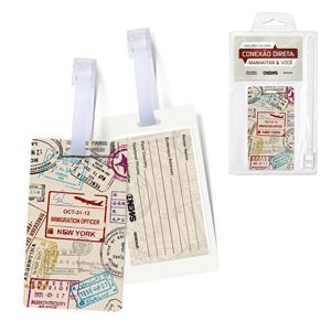 Printas - Identificador de bagagem impresso em PVC.