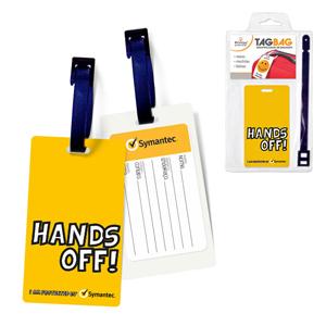 Identificador de bagagem impresso em PVC. - Printas