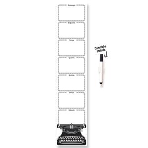 printas - Organizador semanal impresso em PVC, verso com tiras de adesivo.