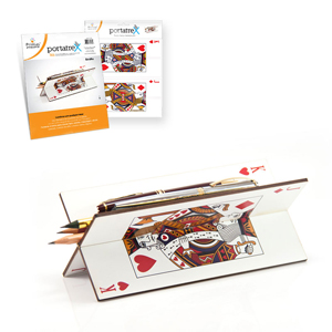 printas - Portatrex impresso em MDF, com recorte laser, para destacar e encaixar.