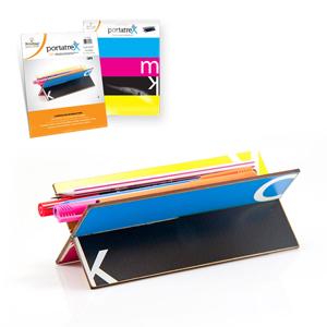 Portatrex impresso em MDF, com recorte laser, para destacar e encaixar. - Printas