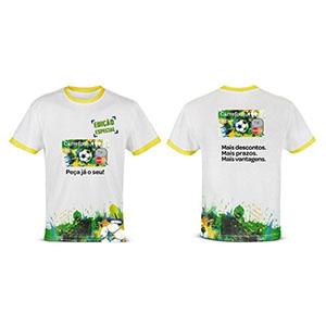 enjoy-gift - Camiseta Personalizada em Malha Cardada e aplicação em transfer ou sublimação.