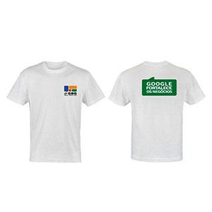 Camiseta Personalizada em malha cardada e aplicação em silk.