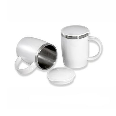 Seripar - Brindes Inovadores - Caneca térmica personalizada, 450 ml.