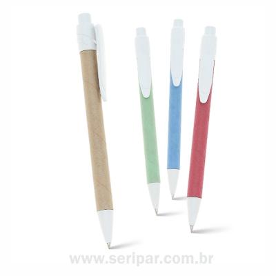 Seripar - Brindes Inovadores - Caneta esferogr�fica ecol�gica.