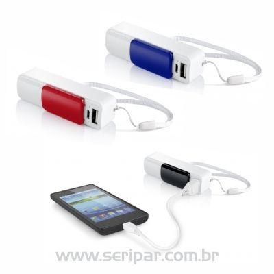 Seripar - Brindes Inovadores - Carregador portátil personalizado.