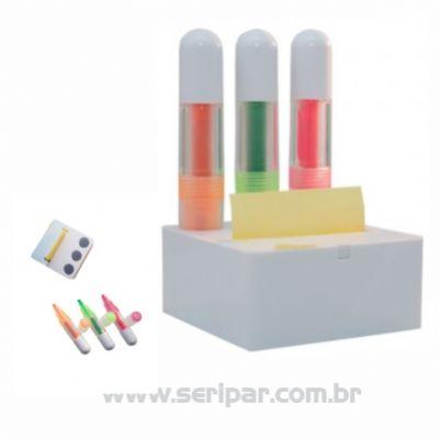 Seripar - Brindes Inovadores - Kit canetas com marca-texto.
