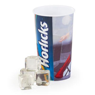 Claros Apoio - Copo de plástico de 750ml.