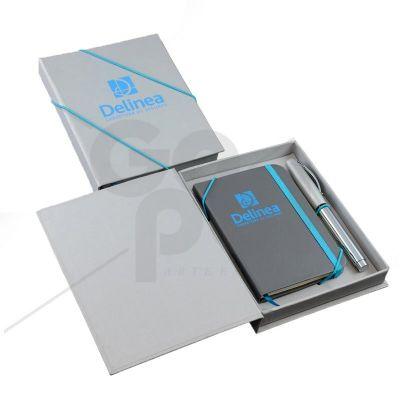 Craft House Brasil - Kit Moleskine (Caixa, Caneta e Caderneta M). Moleskine capa dura, impressão silk-screen 1/0, 80 fls. Medidas: 9 x 13 cm