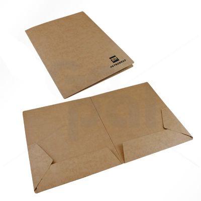 gopal-arte-em-papel - Pasta em cartão Kraft com 2 bolsas internos de encaixe