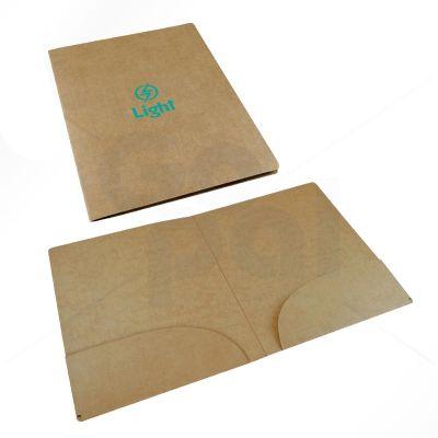 Gopal Arte em Papel - Pasta em cartão Kraft com 2 bolsos internos