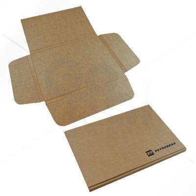 gopal-arte-em-papel - Pasta em cartão Kraft no modelo Cruz.