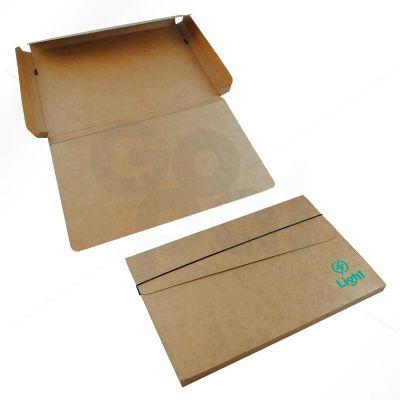 gopal-arte-em-papel - Pasta em cartão Kraft, modelo Cruz com elástico