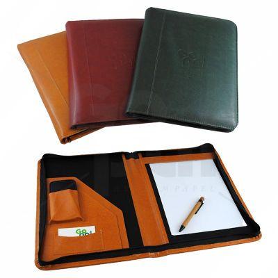 gopal-arte-em-papel - Fichário em couro legítimo ou couro sintético.
