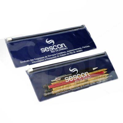 Pasta Zip Zap com impressão e medidas personalizadas.