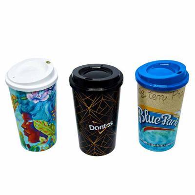 Layout Brindes - Copo com tampa para café 600ml.  impressão total In mold label, qualidade de impressão Excelente qualidade, permite personalizar sem limite de cores....