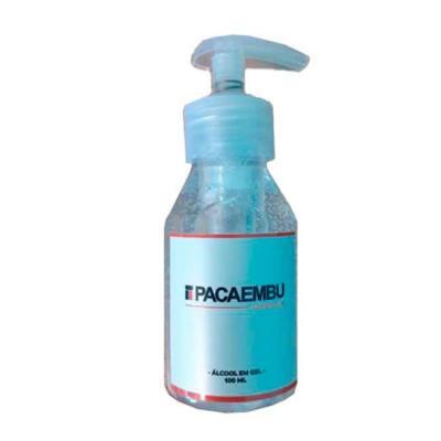 Álcool gel 100 ml. Tampa com válvula - personalização rótulo.