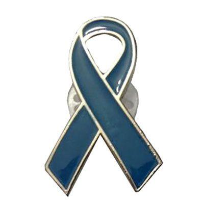 Layout Brindes - Pin laço azul personalizado