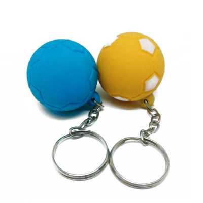 Chaveiro modelo bola em vinil oco, personalizado a 1 cor - Layout Brindes