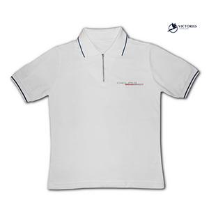 Camiseta gola pólo em tecido Piquet P.A cor branca b5b68263dcfaf