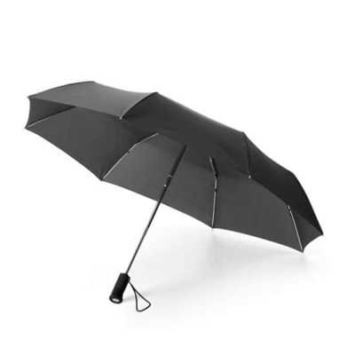 Guarda Chuva Lanterna Personalizado  Guarda-chuva dobrável. Poliéster. Dobrável em 3 seções. Com lanterna na pega (incluso 2 pilhas CR2032). Fornecido... - Nexo Brindes