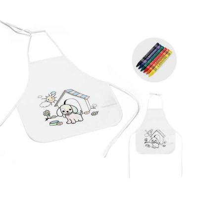 Nexo Brindes - Avental Infantil Personalizado  Avental de criança para colorir. Non-woven: 80 g/m². Com desenho impresso e bolso lateral. 6 gizes de cera inclusos....