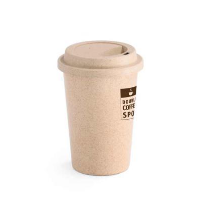 Nexo Brindes - Copo para viagem. Fibra de bambu e PP. Com tampa. Capacidade até 450 ml. Food grade. ø93 x 134 mm  Tamanho total aproximado ø93 x 134 mm   SUA MARCA A...