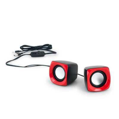 Nexo Brindes - Caixa de Som Personalizada  Caixa de som. ABS.  Com ligação stereo 3,5 mm, ligação USB e controle de volume.  Com 3W/4Ω. 65 x 65 x 65 mm
