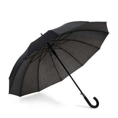 Nexo Brindes - Guarda-chuva de 12 varetas.  Poliéster 190T.  Pega revestida em borracha.  Abertura automática.  ø1100 mm   900 mm