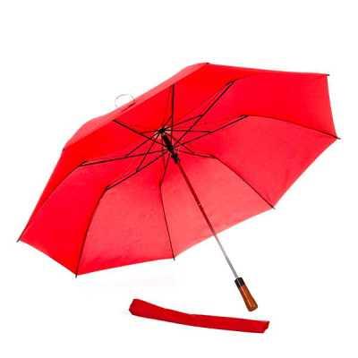 ecco-brindes - Descrição: Guarda-chuva com cabo de madeira botão e acionador para abertura automática, armação reforçada de aço galvanizado, tecido Pongee chinês, se...