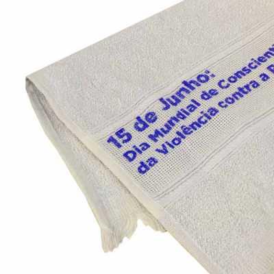 Toalha Lavabo Higiênica Personalizada  100% de algodão  Composição: 100% Algodão Medidas: 28x50 cm Gramatura: 50 gramas  Personalização: Serigrafia ou... - Nexo Brindes