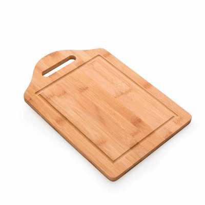 nexo-brindes - Descrição: Tábua grande de bambu para corte com canaleta e pegador.  Tamanho total aproximado (CxL): 32,9 cm x 21,9 cm x 1,1 cm Peso aproximado (g): 4...