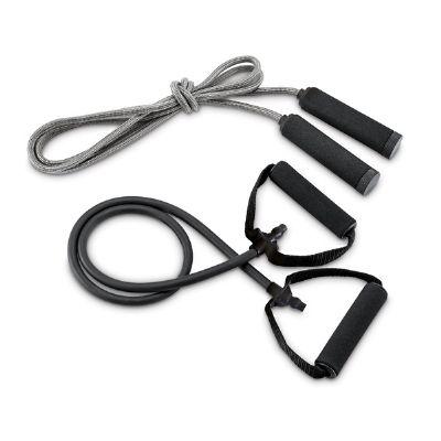 Nexo Brindes - Kit ginástica inclui elástico e corda de pular
