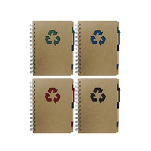 mdm-brindes - Bloco de anotações e caneta, material reciclado, contém 80 fl