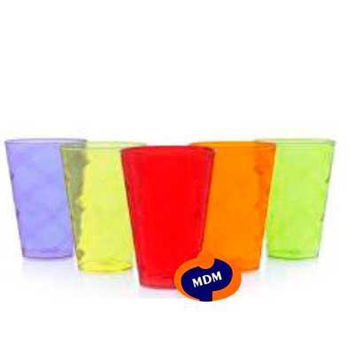 Copo twister de acrílico 550 ml fabricado em PS cristal  super resistente com detalhe espiral. Disponível em diversas cores. Personalizado em Silk. - MDM Brindes